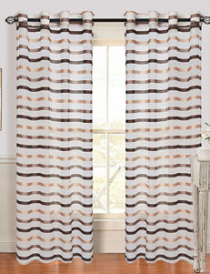 Lavish Home Sonya 2-pc. Striped Grommet Curtains – Taupe