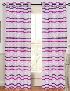 Lavish Home Sonya 2-pc. Grommet Curtains – Violet