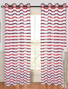 Lavish Home Sonya 2-pc. Grommet Curtains – Wine & Red