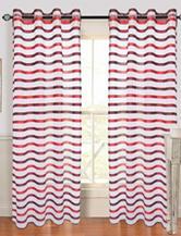 Lavish Home Sonya 2-pc. Grommet Curtains – Wine & Red