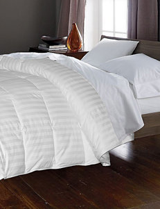 Blue Ridge Home Fashions 350 Thread Count Damask Stripe White Goose Down & Feather Comforter