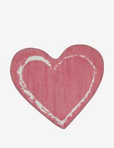 Fun Rugs Pink Heart Rug