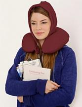 U_Hood Portable Memory Foam Pillow – Brash Burgundy