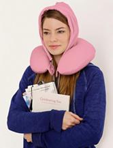U_Hood Portable Memory Foam Pillow – Pretty Pink