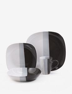 Gibson Black Dinnerware Sets Dinnerware
