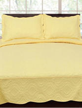 Home & Main 3-pc. Elegance Engraved Quilt Set – Yellow