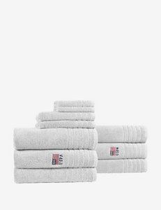 U.S. Polo Assn. White Bath Accessory Sets Bath Rugs & Mats