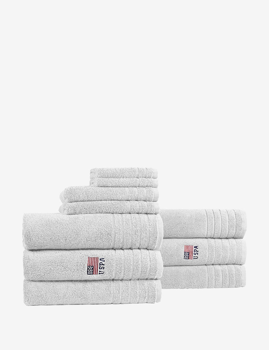 U.S. Polo Assn. White Bath Rugs & Mats