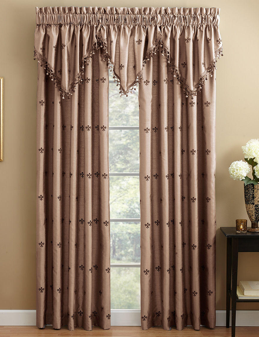 Chapel Hill by Croscill Taupe Valances Window Treatments