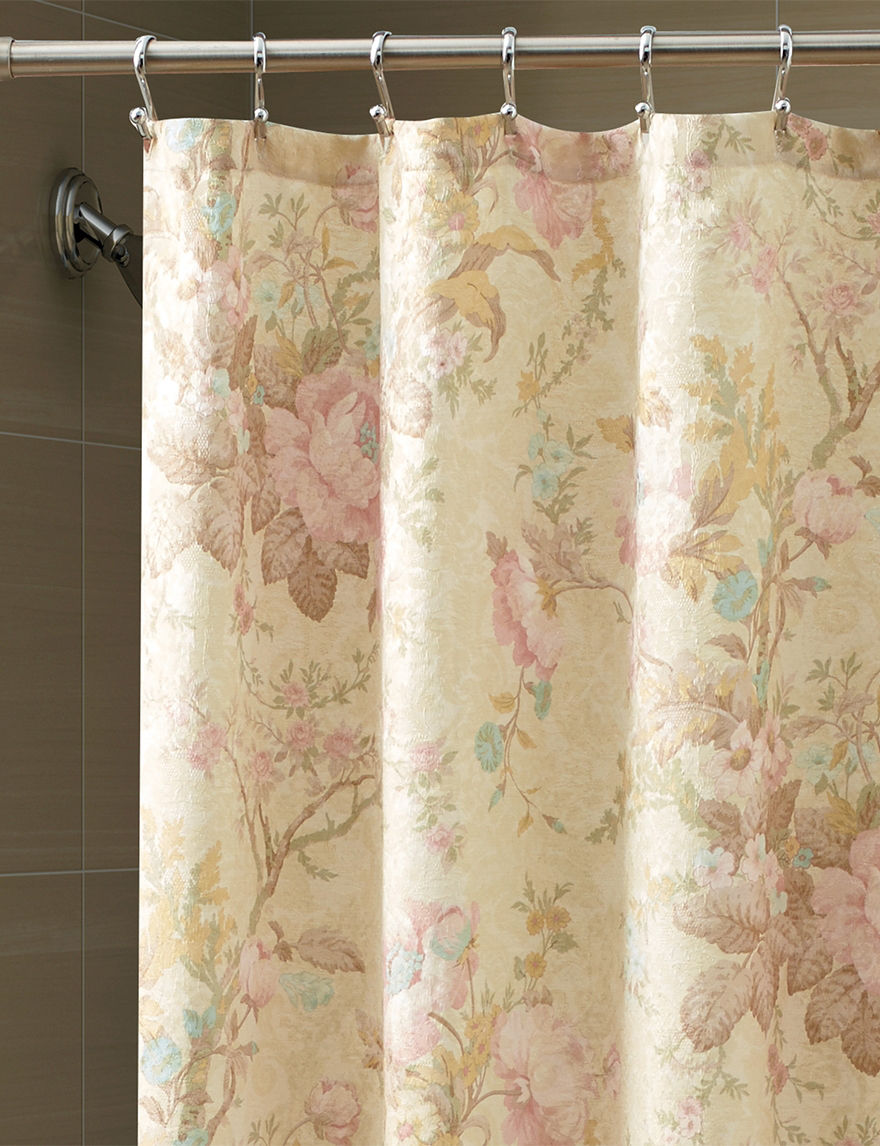 floral shabby french kjky il curtain cottage chic custom vintage roses fabric pink products curtains fullxfull shower