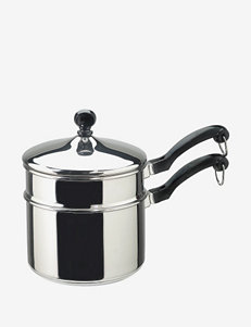 Farberware Classic Series 2-Quart Covered Saucepan with Double Boiler