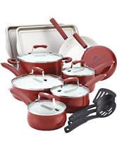 Paula Deen Savannah Collection Aluminum Nonstick 17-pc. Cookware Set