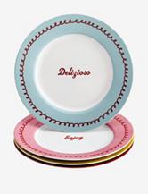 Cake Boss 4-pc. Icing & Quotes Print Dessert Plate Set