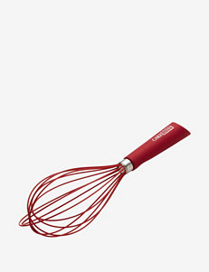 "Cake Boss 10"" Red Balloon Whisk with Silicone Overmold"