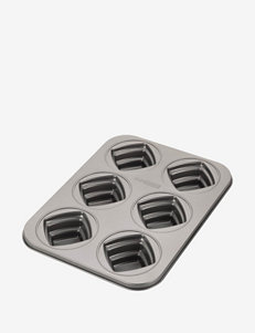 Cake Boss 6-Cup Gray Square Cakelette Pan
