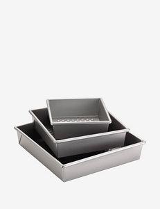 Cake Boss 3-pc. Silver Square Cake Pan Set
