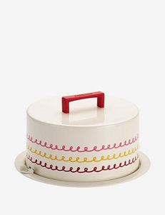 Cake Boss Cream Icing Pattern Metal Cake Carrier
