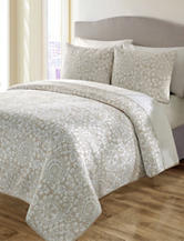 S. L. Home Fashions Sundance Taupe 3-pc. Quilt Set