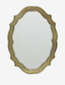 Three Hands Gold Wall Mirror