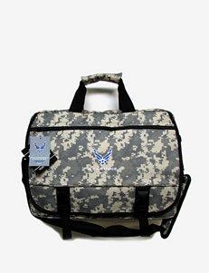 U.S. Air Force Camo Print Laptop Messenger Handbag