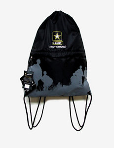 U.S. Army Black Drawstring Bag