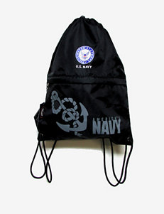 U.S. Navy Black Drawstring Bag