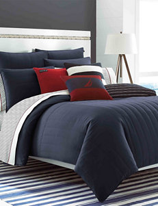Nautica Mainsail Navy Quilted Comforter Collection