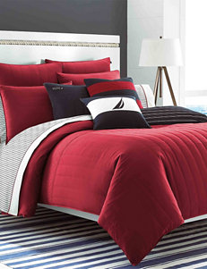 Nautica Mainsail Red Quilted Comforter Collection