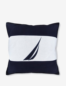 "Nautica Crew J Class Navy & White 18"" Decorative Pillow"