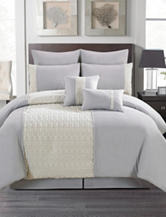 Artistic Linen Pebble Gray 8-pc. Comforter Set