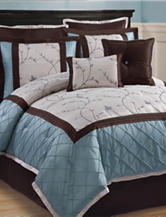 Victoria Classics Alexandria 8-pc. Blue & Brown Comforter Set
