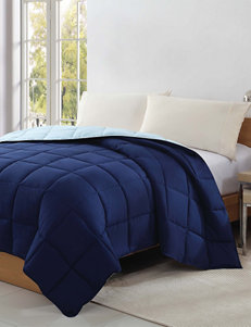 Caribbean Joe Down Alternative Blue Reversible Microfiber Comforter