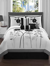 Victoria Classics Adrienne 7-pc. Black & White Comforter Set
