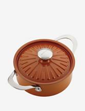Rachael Ray Cucina Pumpkin Orange Covered Round Casserole Dish
