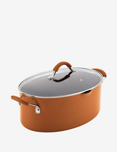 Rachael Ray Cucina 8-Qt. Covered Oval Pasta Pot with Pour Spout