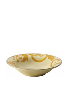 Rachael Ray Gold Scroll 10 Inch Round Serving Bowl