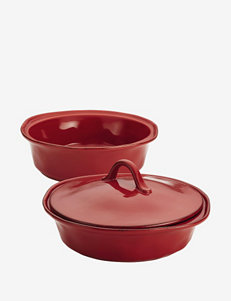 Rachael Ray 3-pc. Cucina Serveware Round Baker Set with Lid