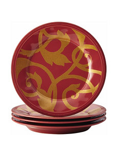 Rachael Ray Red Plates Dinnerware