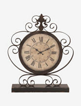 Uma Scroll Iron Table Clock