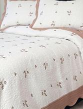 Lavish Home Peyton Embroidered Quilt Set