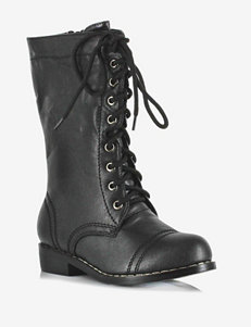 Black Combat Boots – Boys