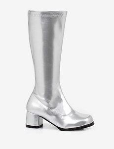 Metallic Silver Dora Boots –Girls