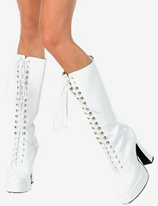 Easy Style White Platform Boots