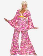 3-pc.  Flower Power Hippie Costume Set