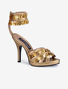 Faux Gold Coin Shoes