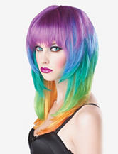 Multicolored Kaleidoscope Wig