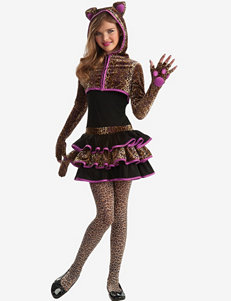 Brown & Purple 4-pc. Leopard Costume – Teen