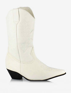 Rodeo White Boots – Kids