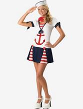 BuySeasons White & Navy Sassy Sailor Costume – Teen