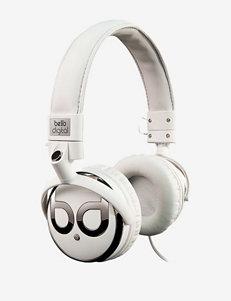 Bello White Headphones Home & Portable Audio